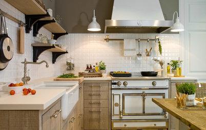 Más vale una imagen…: 12 cocinas rústicas modernas espectaculares