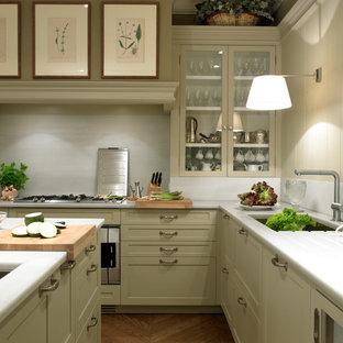 Una cocina de elegancia clásica