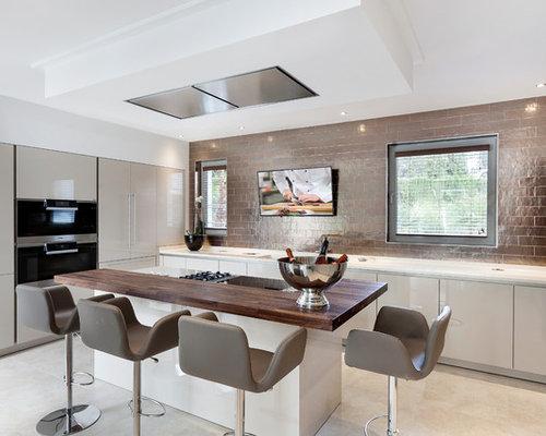 Ideas para cocinas fotos de cocinas abiertas con puertas - Houzz cocinas ...