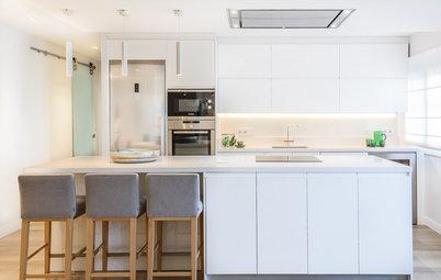 8 de las cocinas blancas modernas que más gustan en Houzz