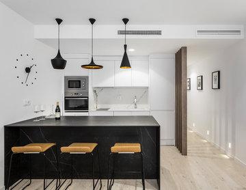 vivienda iluminación materiales sobrios
