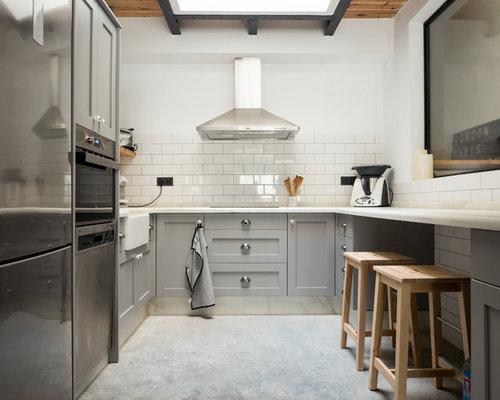 Fotos de cocinas dise os de cocinas con suelo de cemento - Tamano azulejos cocina ...