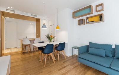 Antes y después: Un piso de 50 m² con cocina abierta