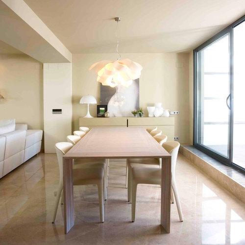 sala da pranzo con pareti gialle valencia - foto, idee, arredamento - Soggiorno Pareti Gialle 2