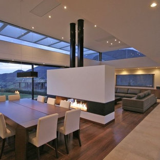 Design ideas for a contemporary dining room in Other.
