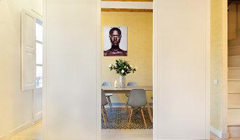 Comedor con paredes correderas