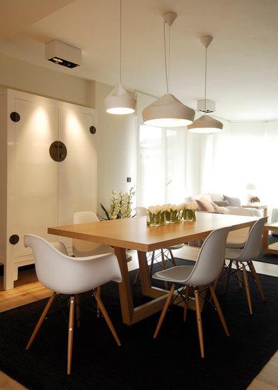 Casas houzz un piso pr ctico para una joven pareja y sus - Sube interiorismo ...