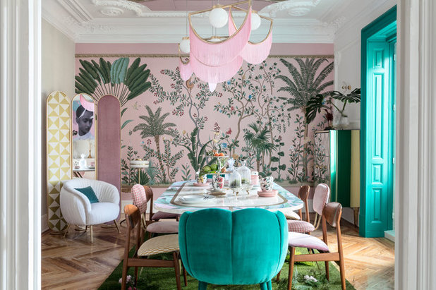 Eclectic Dining Room by Hisbalit