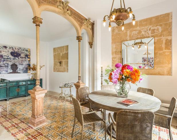Eclectic Dining Room by Oksana Vladi