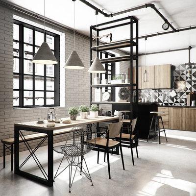 Industrial Dining Room Industrial Comedor