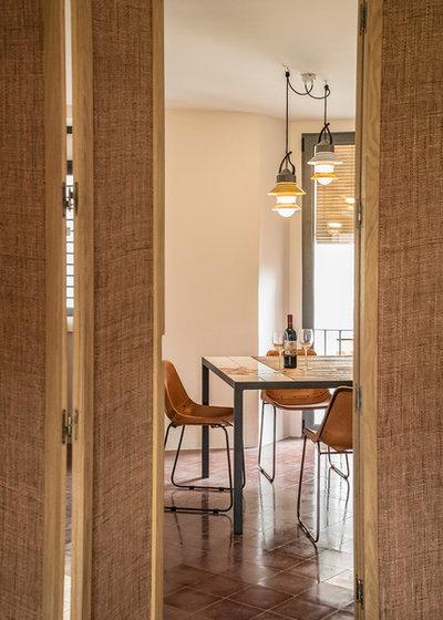 Mediterranean Dining Room by Bloomint