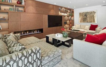 Casas Houzz: Un gran piso con un confortable salón de 65 m²