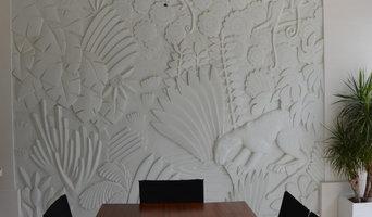 Mural de escayola Art Deco