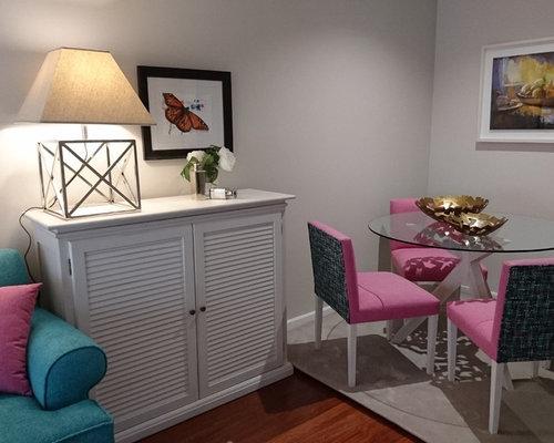 salle manger romantique avec un mur beige photos et id es d co de salles manger. Black Bedroom Furniture Sets. Home Design Ideas