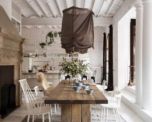 shabby chic dining rooms. Inspiration for a large shabby chic style painted wood floor kitchen dining  room combo 25 Best Shabby Chic Style Dining Room Ideas Decoration Pictures