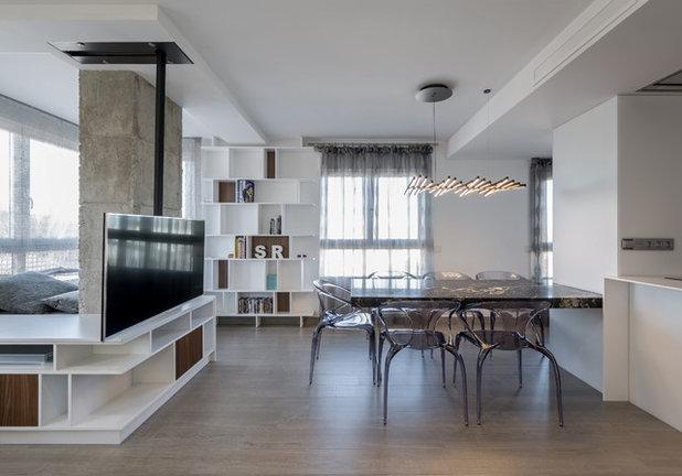 7 ideas para integrar con xito un pilar en la decoraci n for Muebles de cocina zona pilar