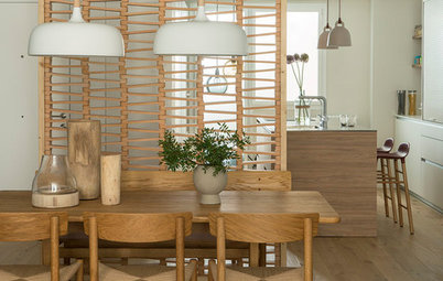 Try Slatted Wood Walls to Define Spaces and Add Privacy