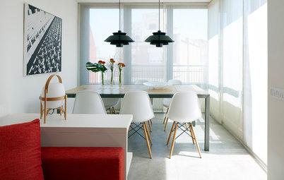 Casas Houzz: Un funcional ático rediseñado para una familia de 3