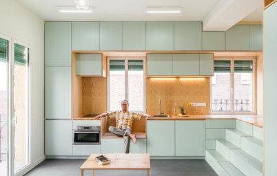 Houzz Tour: Multifunktionelt hjem på 34 kvm med skjulte rum