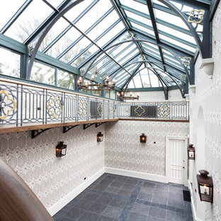 Photo of a conservatory in Edinburgh with a glass ceiling.