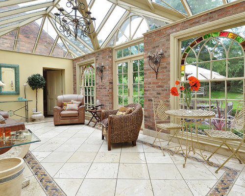 Eclectic Sunroom Wales 1 Eclectic Sunroom Design Photos with Limestone Floors