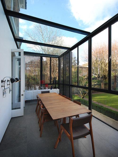 moderner wintergarten london bilder ideen houzz. Black Bedroom Furniture Sets. Home Design Ideas