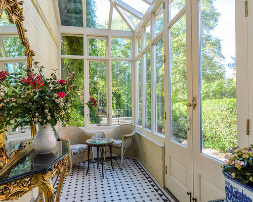 This Is An Example Of A Small Victorian Sunroom In Belfast With A Glass  Ceiling,