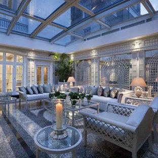Ispirazione per una veranda moderna