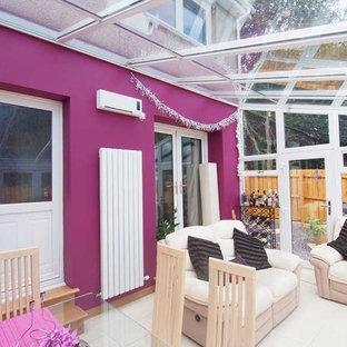 Idee per una grande veranda moderna