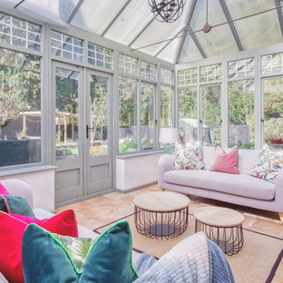 Farnham, Surrey, London : Conservatory with exotic and botanical touches.