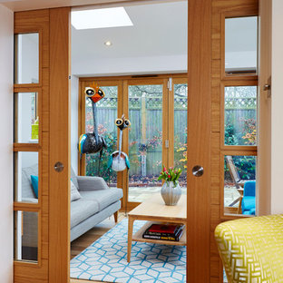 Photo of a small contemporary conservatory in Other.