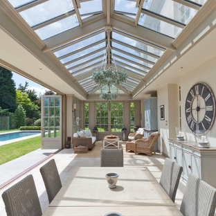 This is an example of a large classic conservatory in Other.