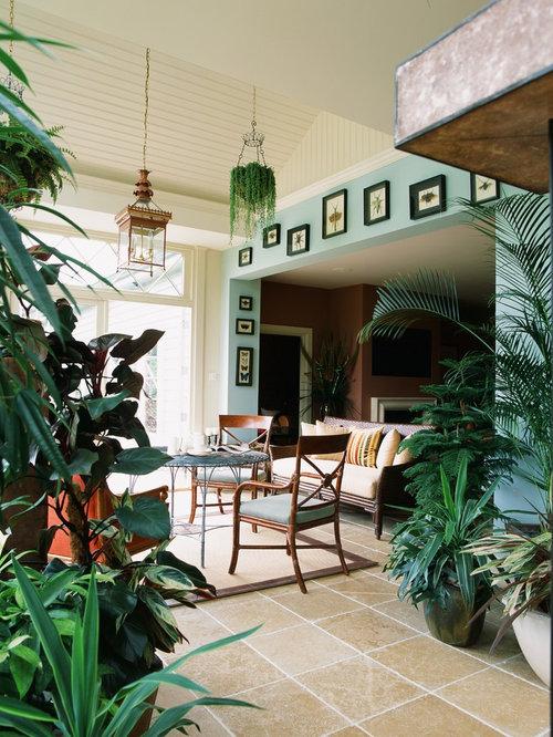 mediterraner wintergarten ohne kamin ideen design. Black Bedroom Furniture Sets. Home Design Ideas