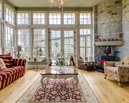 klassischer wintergarten mit kaminofen bilder ideen houzz. Black Bedroom Furniture Sets. Home Design Ideas