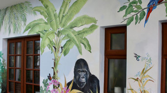 Jungle mural in Orangery, Wiltshire