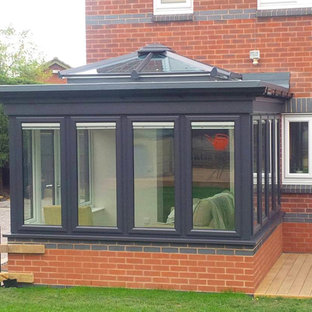 Orangery with grey windows in Ilkeston, Derbyshire