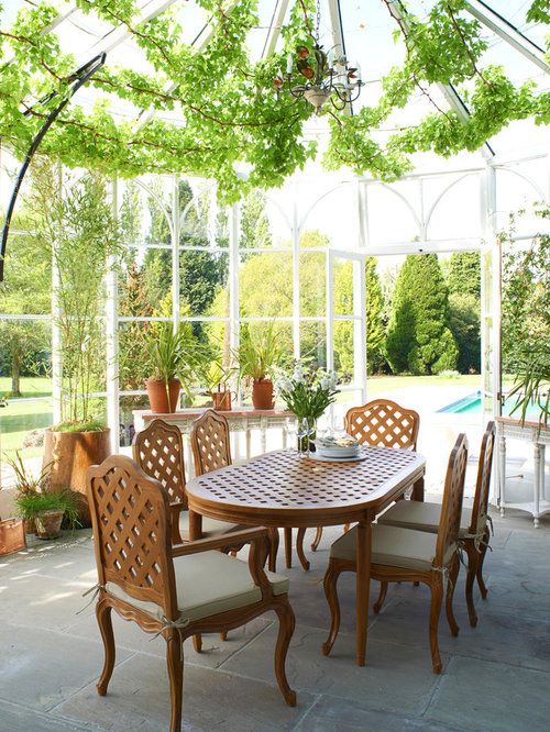 Conservatory room houzz for Conservatory dining room decorating ideas