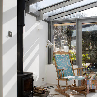 Rear Conservatory Extension with Wood Burning Stove