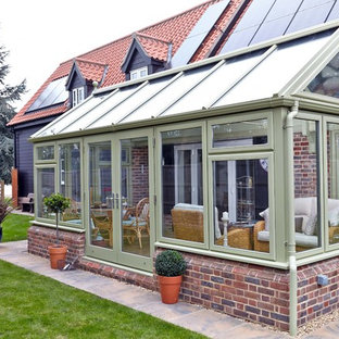 Inspiration for a timeless sunroom remodel in Other