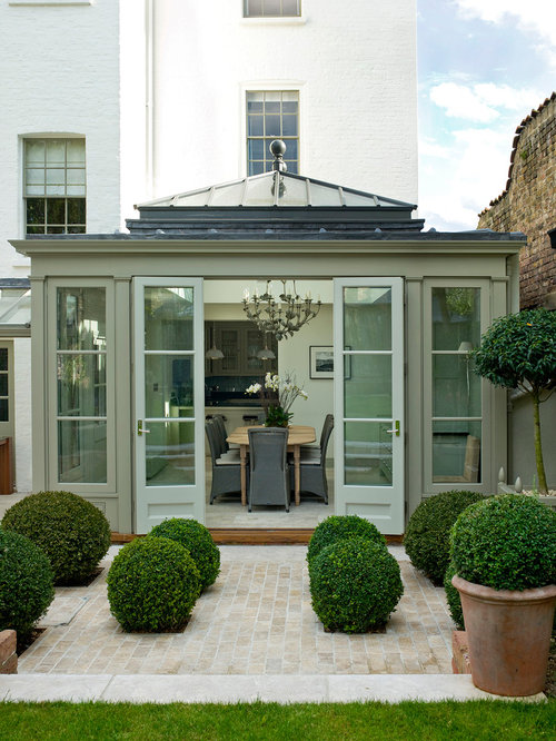 This Is An Example Of A Medium Sized Traditional Conservatory In London  With A Glass Ceiling