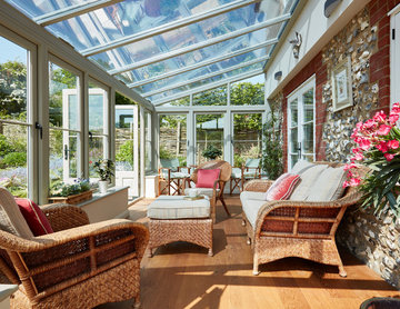 Timber conservatory in Surrey