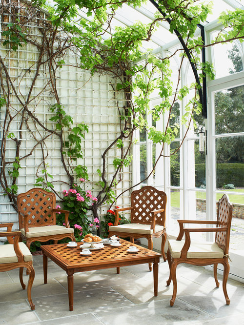 Sunroom   Traditional Sunroom Idea In London With A Glass Ceiling