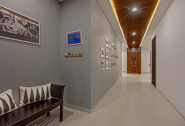 Contemporary Corridor by Yellow Door Architects