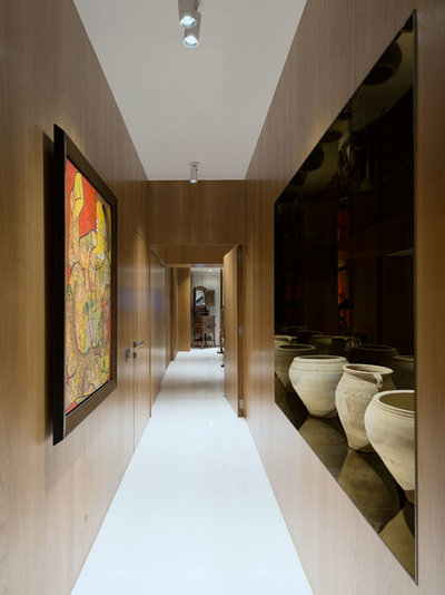 Contemporary Corridor by ns*a Architecture and Interiors