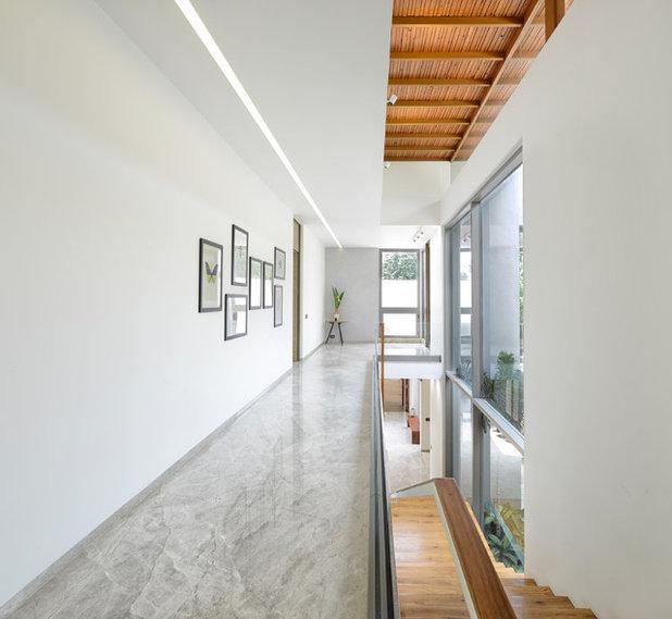 Contemporary Corridor by S A K Designs