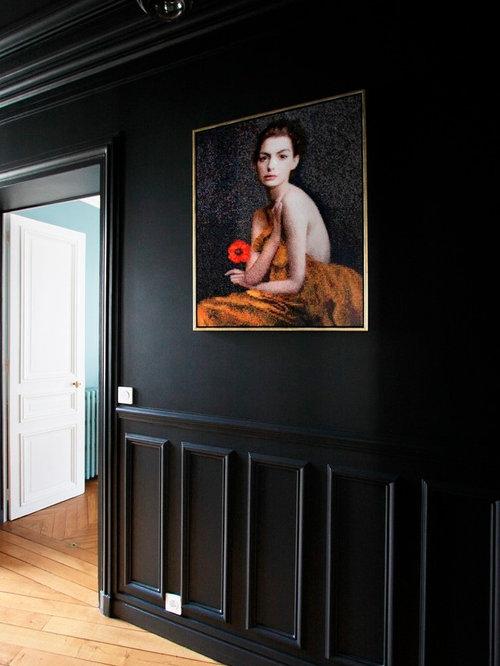 couloir soubassement moulur photos et id es d co de. Black Bedroom Furniture Sets. Home Design Ideas