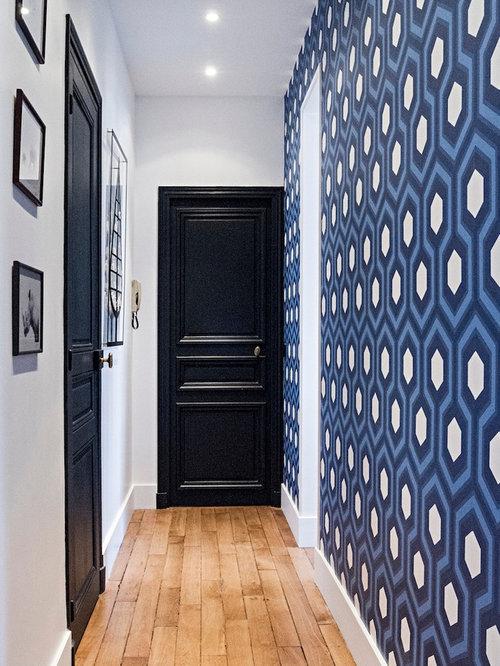 Couloir classique photos et id es d co de couloirs - Comment eclairer un couloir sombre ...