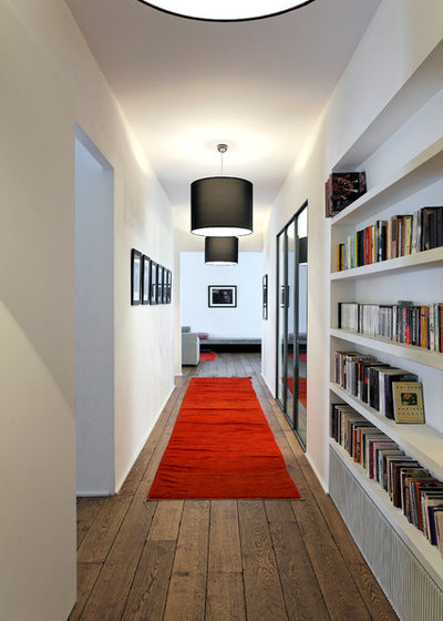 Hallway & Landing by Antonio Virga Architecte