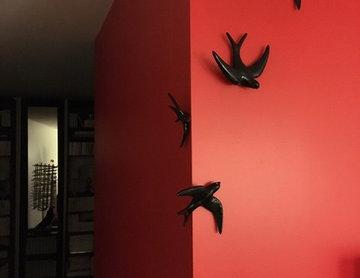 Création d'un mur rouge