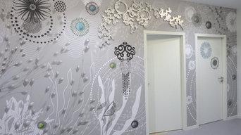 Design mural monumental pour l'Université Rennes 2